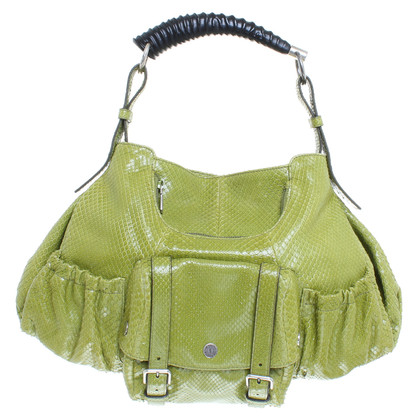 Yves Saint Laurent Python leather handbag
