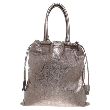 Etro Handbag in metallic bronze