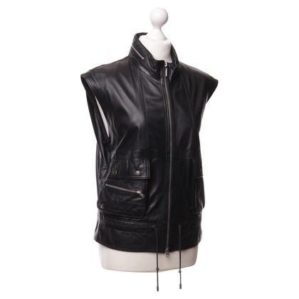 See by Chloé Leather vest in black