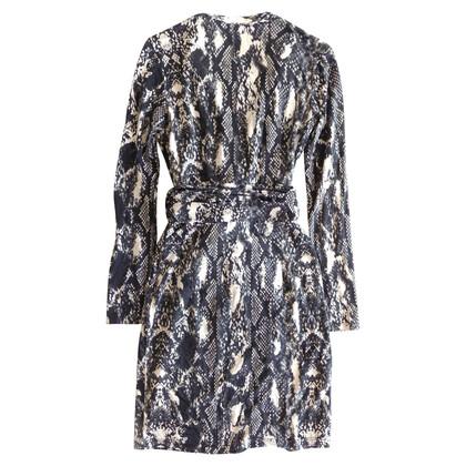 Marc Cain zijden jurk met slangenprint