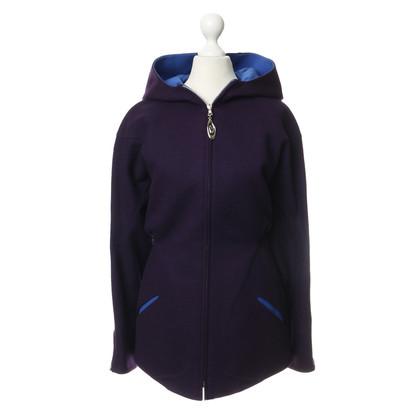Mugler Giacca in lana Violettfarbene