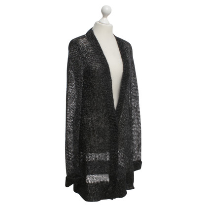 Dorothee Schumacher Knit cardigan in black / silver