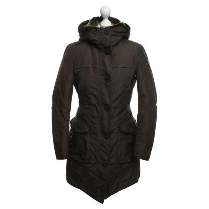 Peuterey Gewatteerde jas met bont