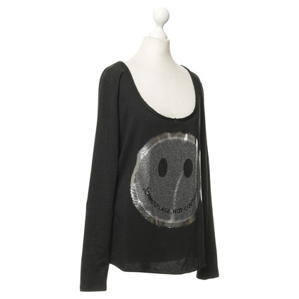 Camouflage Couture Shirt met Rhinestone trim