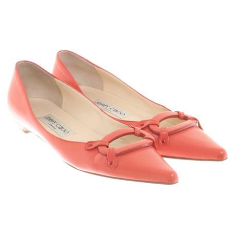 in Orange Korallrot Jimmy Choo Ballerinas Choo Jimmy qSxwYPI