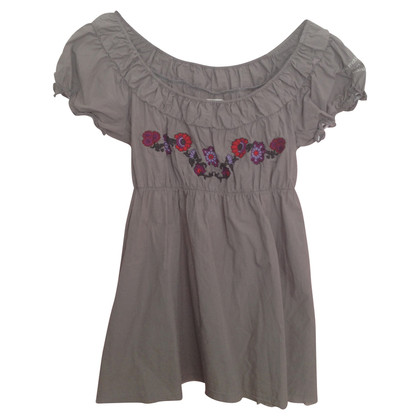 Odd Molly Tunic with floral embroidery