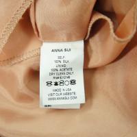 Anna Sui Vestito di seta con il motivo floreale