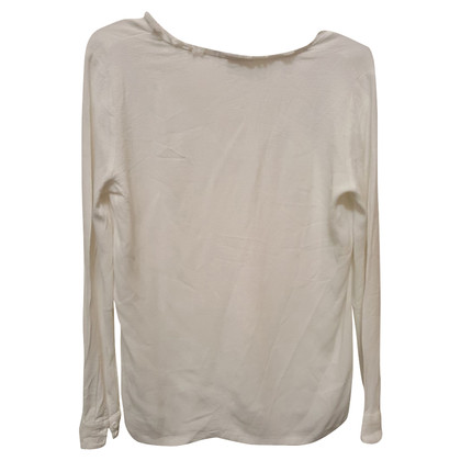 Maje White blouse with fringe