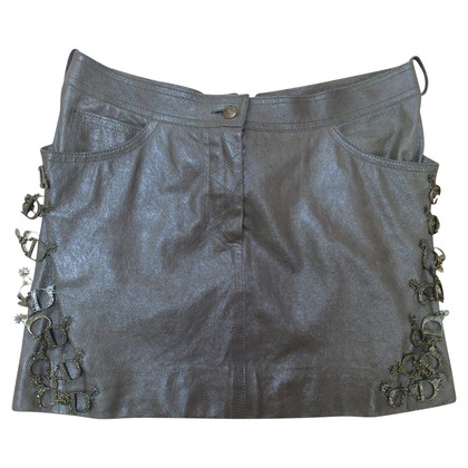 Christian Dior leather skirt