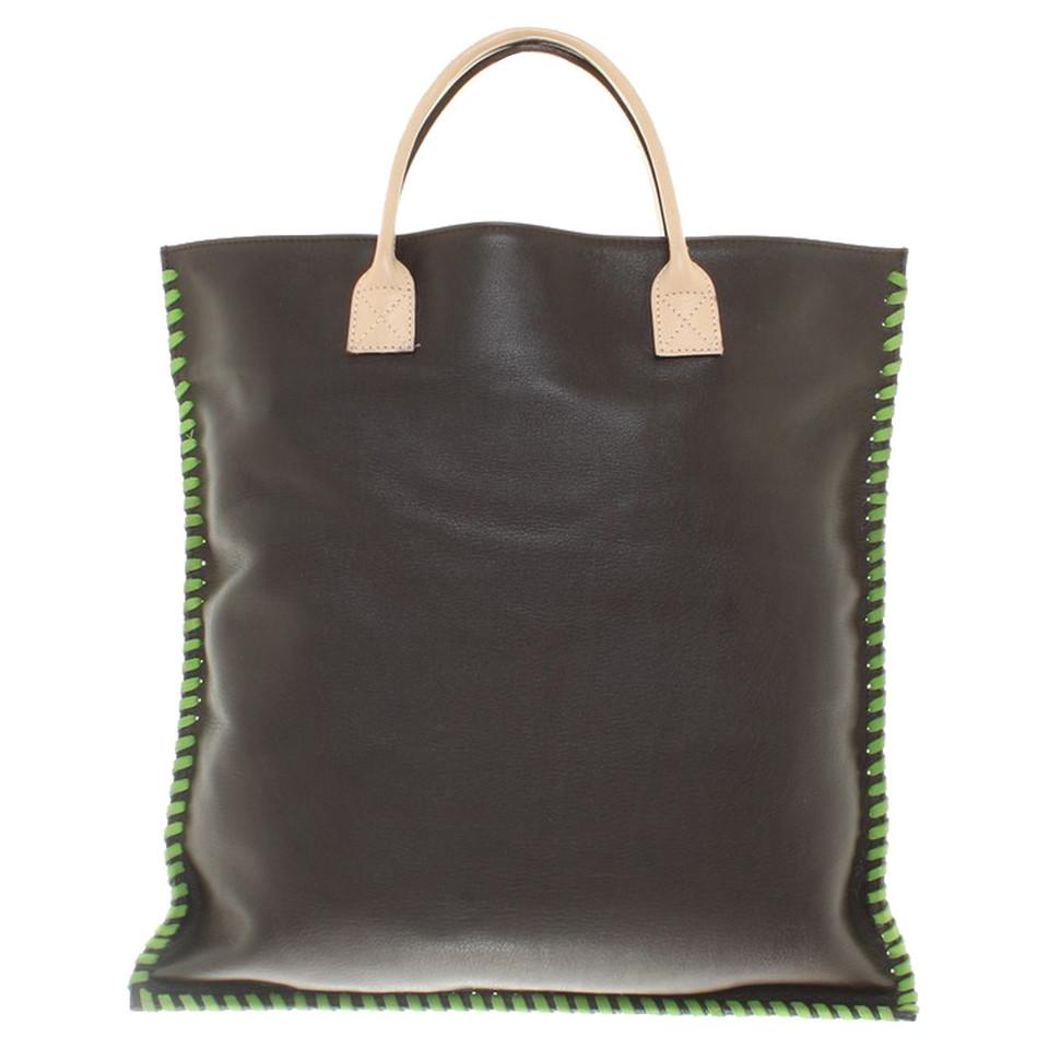 dolce gabbana tote bag aus leder second hand dolce. Black Bedroom Furniture Sets. Home Design Ideas