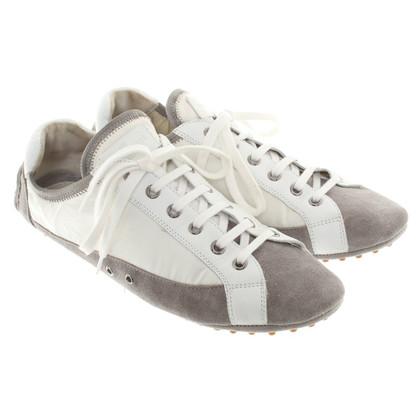 Car Shoe Sneaker in Grijs / wit