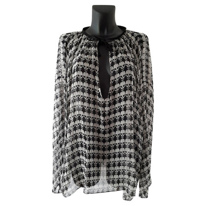Thomas Wylde Silk tunic with skull and crossbones