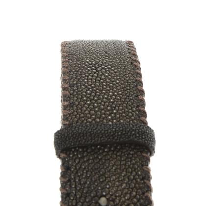 Reptile's House Cintura in pelle stingray