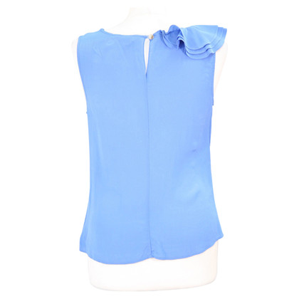 Ted Baker Silk Top in Blauw