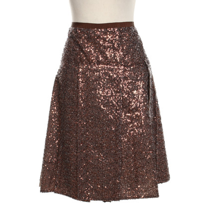 no. 21 skirt with sequin trim