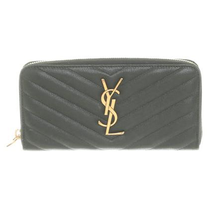Yves Saint Laurent Portemonnee in groen