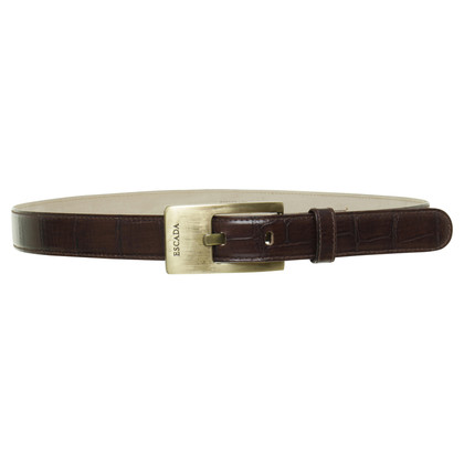 Escada Belts in crocodile look