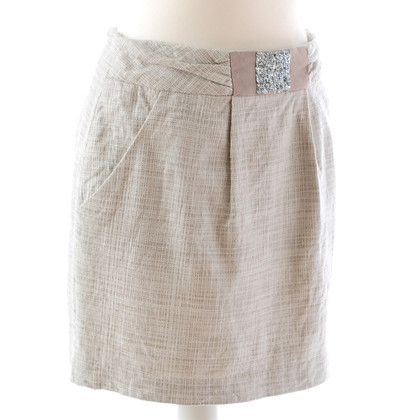 Laurèl Mini rok in beige