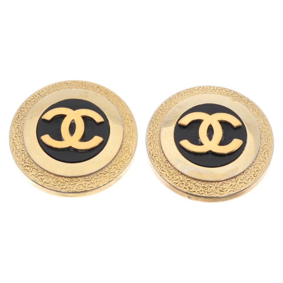Chanel Ohrclips mit Logo