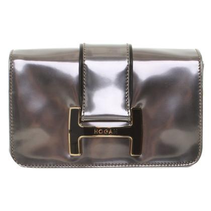 Hogan Silver colored shoulder bag