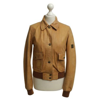 Belstaff Camelfarbene Jacke aus Leder