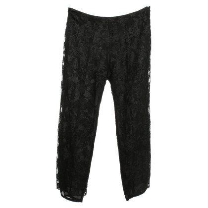 Christian Lacroix trousers from black lace