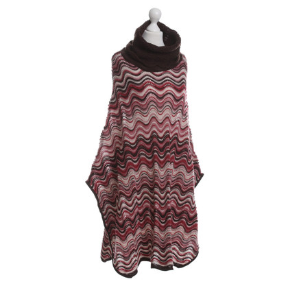 Missoni Knitting poncho pattern