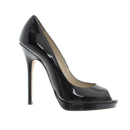 Jimmy Choo High Heel Peeptoes in Schwarz