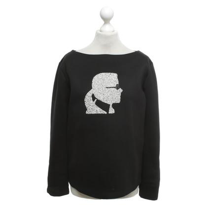 Karl Lagerfeld Top in zwart