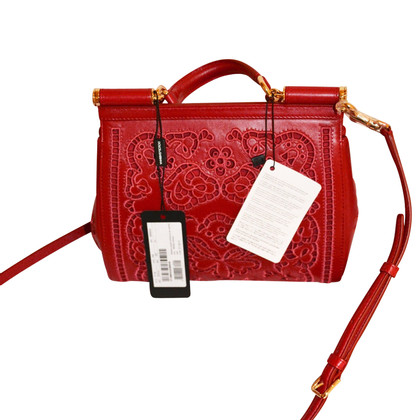 "Dolce & Gabbana ""Sicily Bag"" in Rot"
