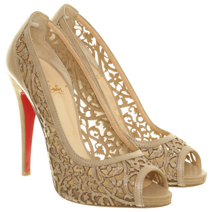 Christian Louboutin Peep Toes mit Perforierung