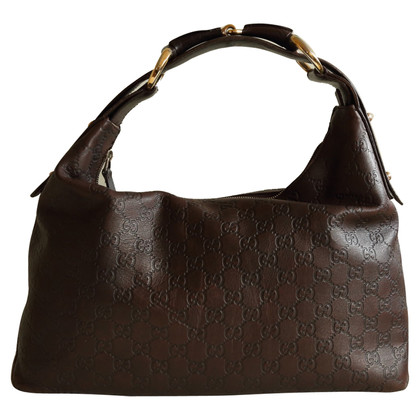 Gucci Shoulder Bag In Brown Guccissima Leather