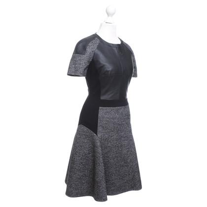 Karen Millen mélange de matériaux de robe