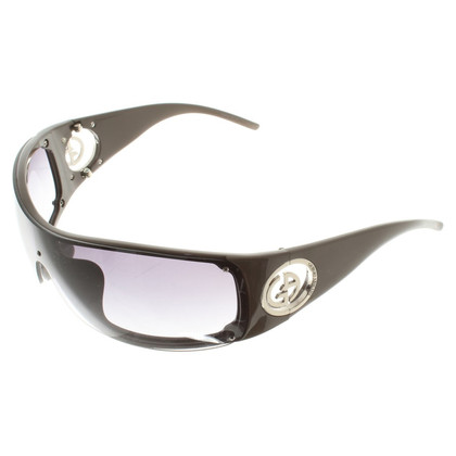 Armani Monoshade-Sonnenbrille in Taupe