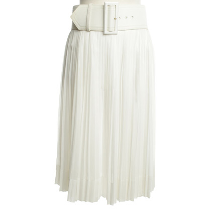Céline Pleated skirt in white