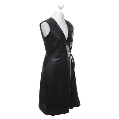 Iris & Ink abito in pelle di colore nero