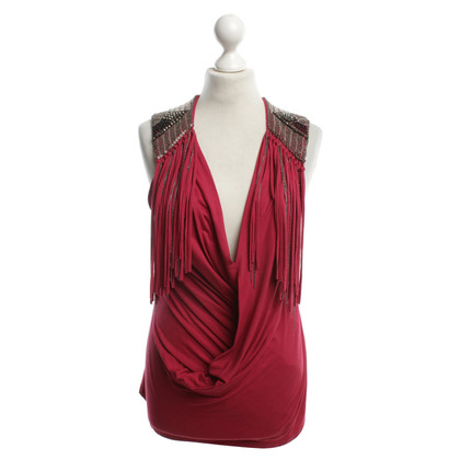 Richmond Frangé chemise en rouge