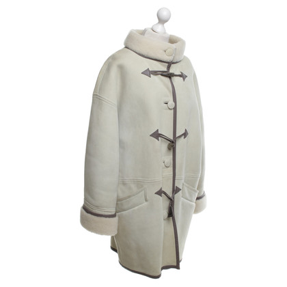 Guy Laroche Lambskin coat in cream
