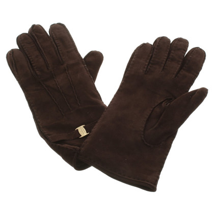 Salvatore Ferragamo Gloves Suede