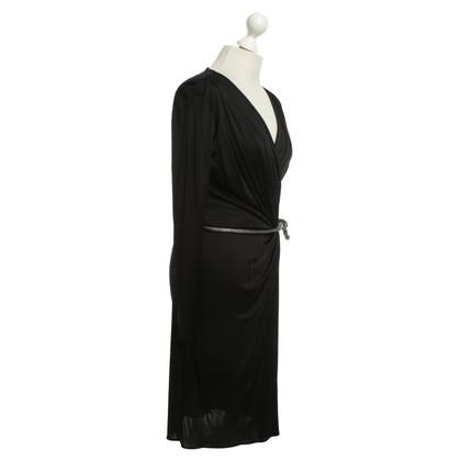 Blumarine Robe avec une ceinture extravagante