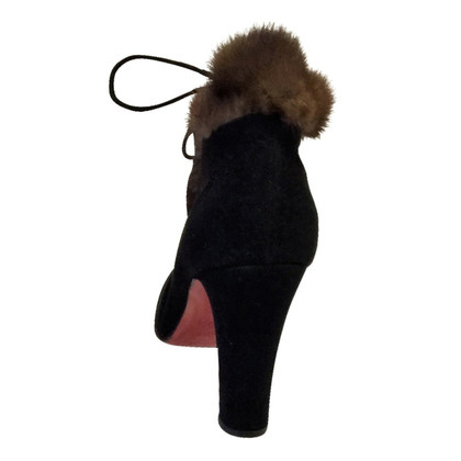 Christian Louboutin Ankle boots with mink fur