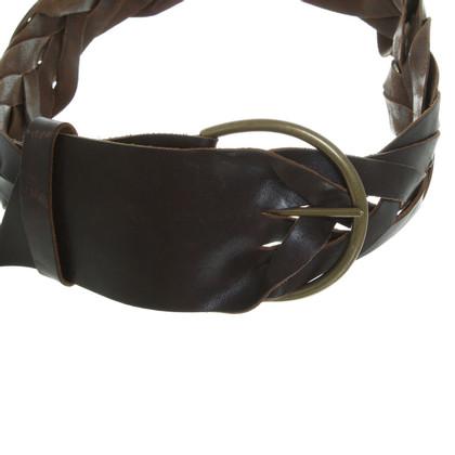 Sonia Rykiel Woven leather belt dark brown