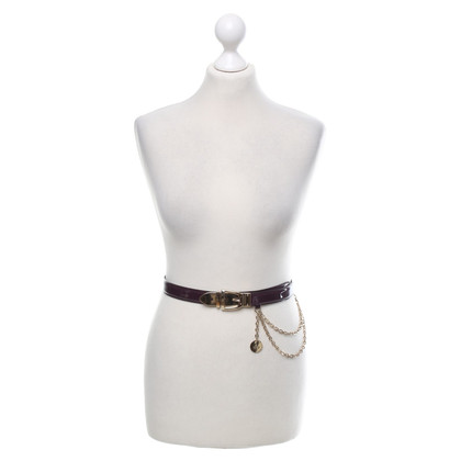 Gucci Patent leather belt in purple