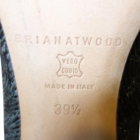 Footlocker Bilder Brian Atwood Plateau Stiefeletten in crash Optik Schwarz Neue Stile Zw8btrxqAd