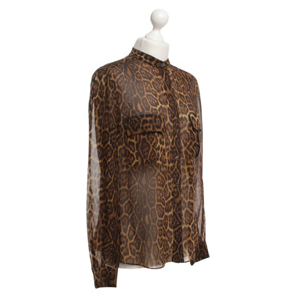 BCBG Max Azria Blouse with animal print