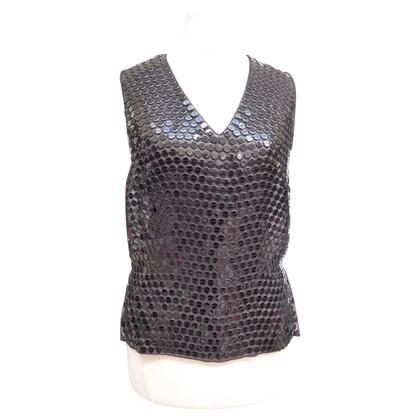 Chanel Top e giacca con pietre preziose