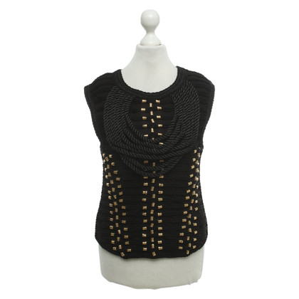Balmain X H&M Top in nero / oro