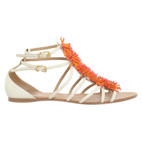 c5ff61749 Tory Burch Sandals with decorative trimmings - Second Hand Tory ...