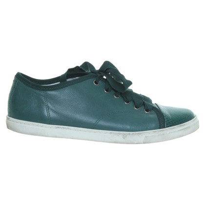 Lanvin Leather sneakers in green