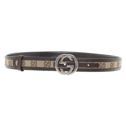 Gucci Leather belt with Guccissima patterns